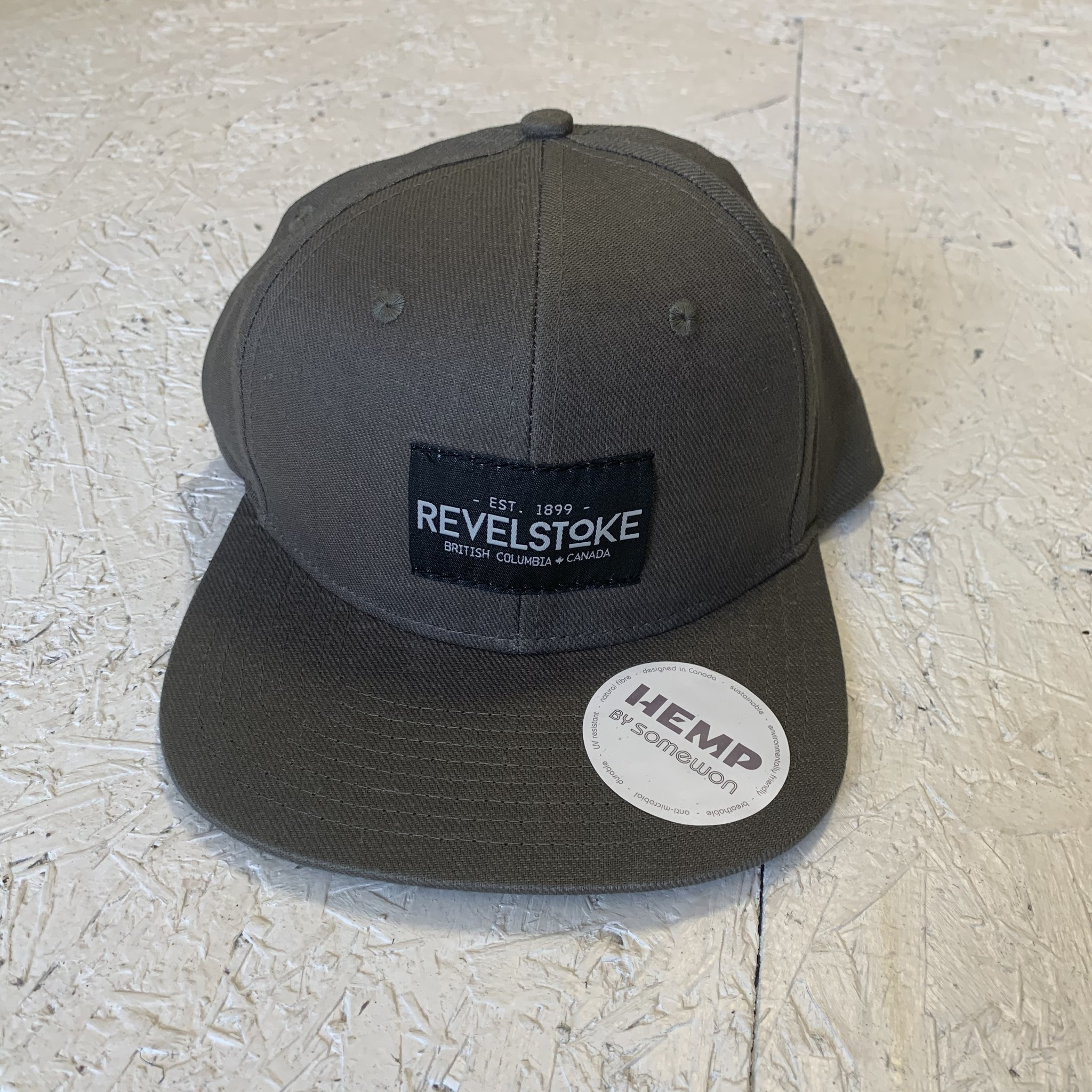 Revelstoke Trading Post Revelstoke - Trading Co Hemp Flat Brim Cap - Olive