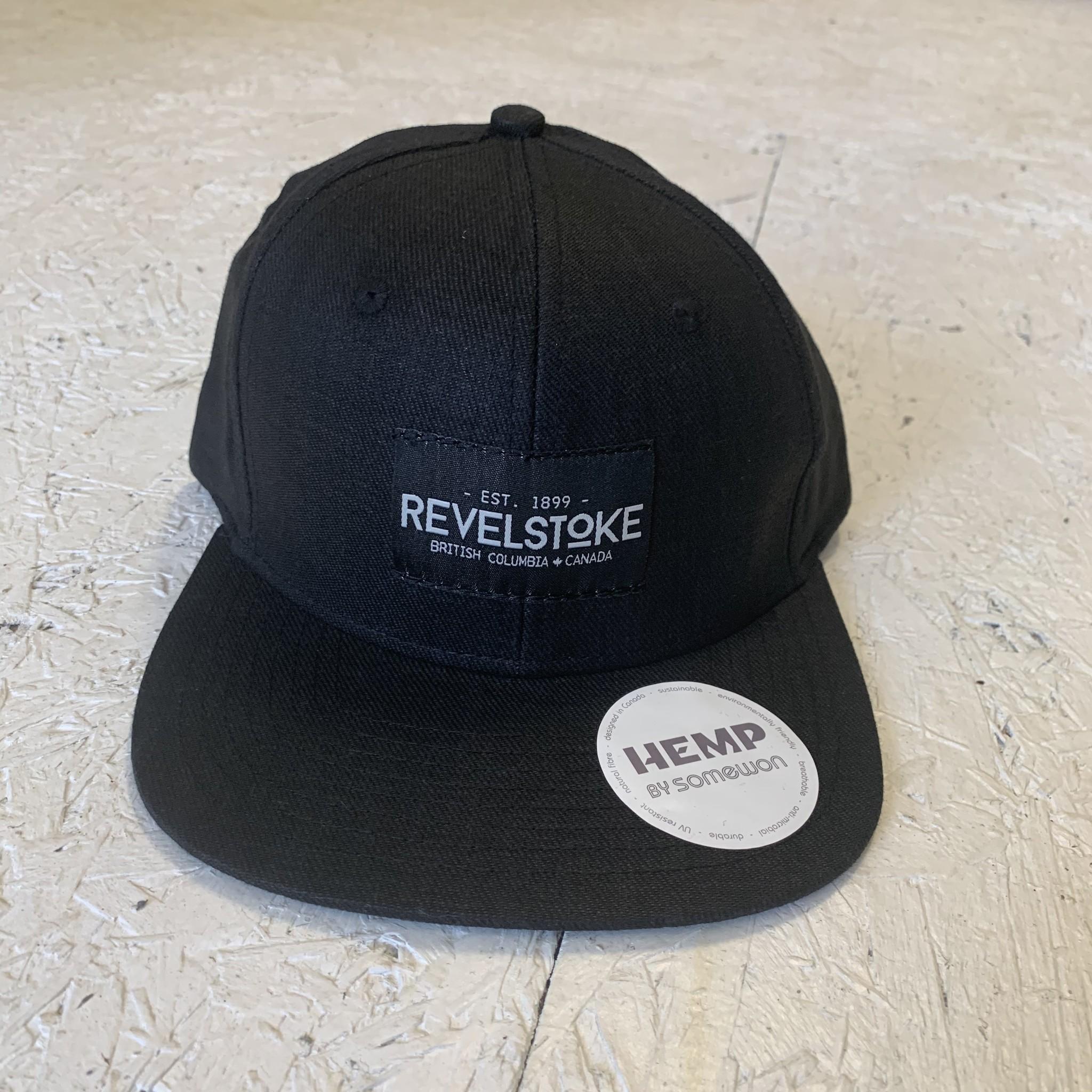 Revelstoke Trading Post Revelstoke - Trading Co Hemp Flat Brim Cap - Black