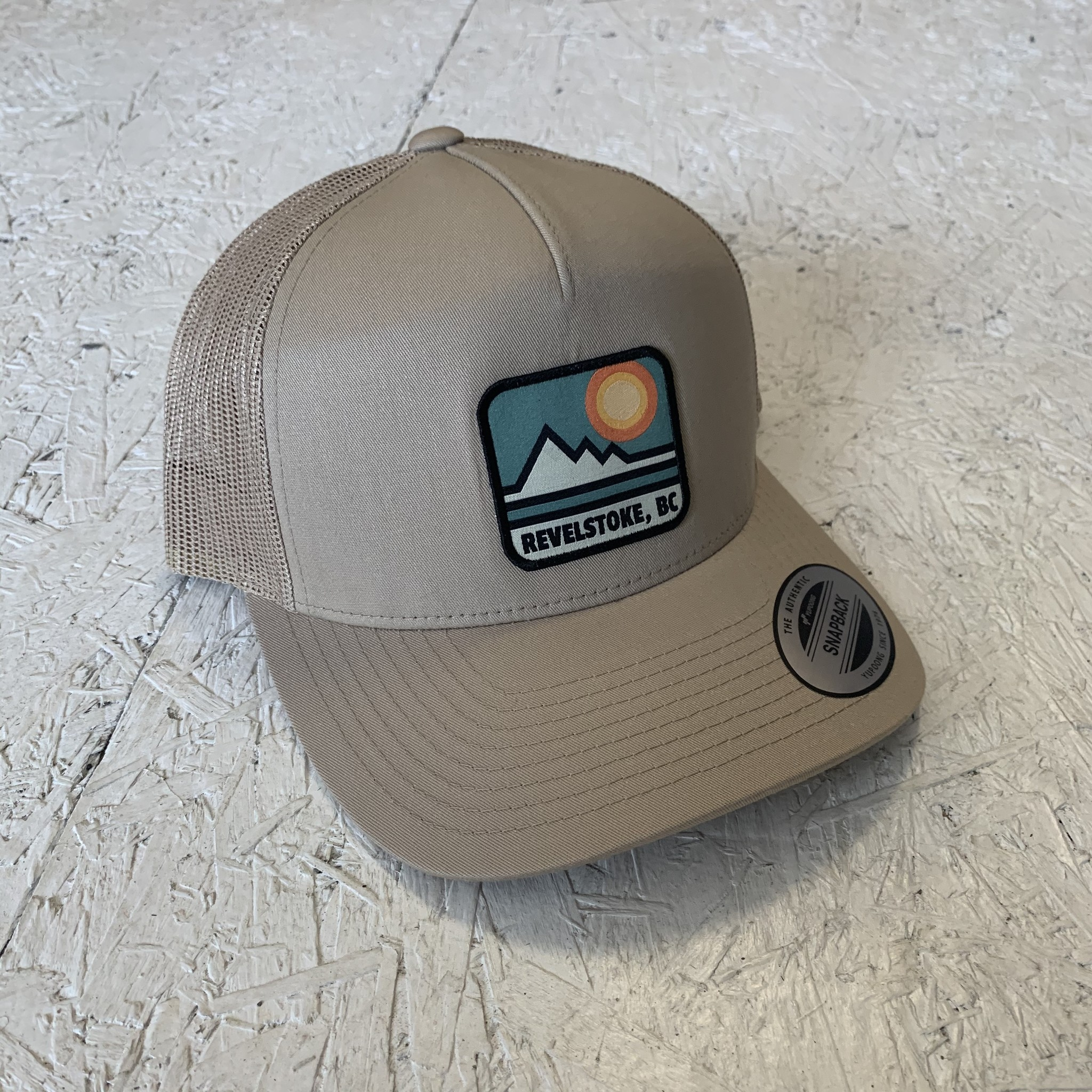 Revelstoke Trading Post Revelstoke - Retro Patch Curve Trucker - Khaki