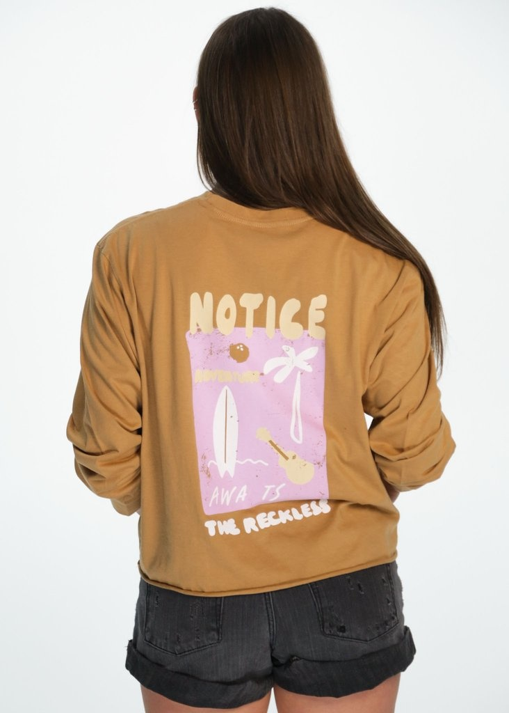 Notice The Reckless Notice The Reckless - Sandstorm Cropped LS Tee