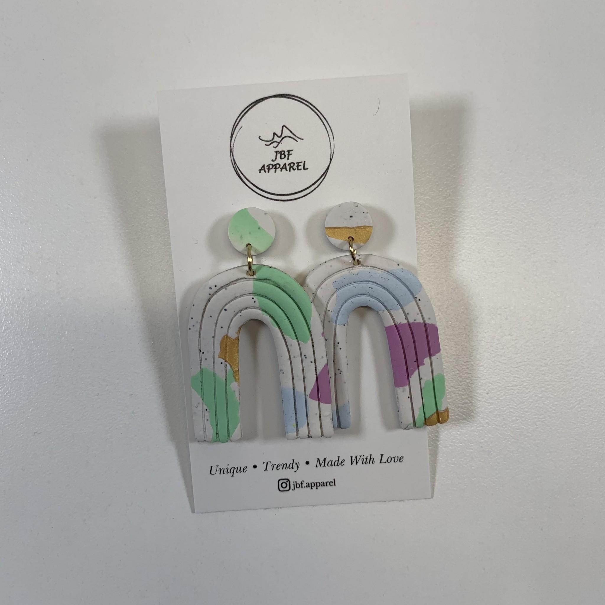JBF Apparel JBF Apparel - Clay Earring Rainbow