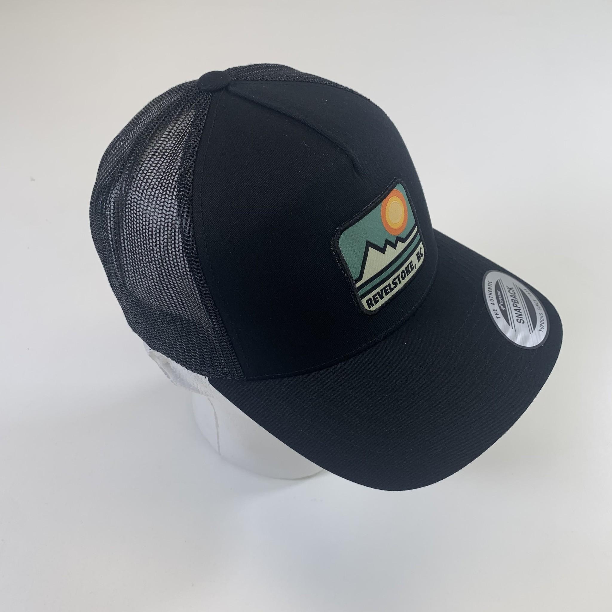 Revelstoke Trading Post Revelstoke - Retro Patch Curve Trucker (Black)