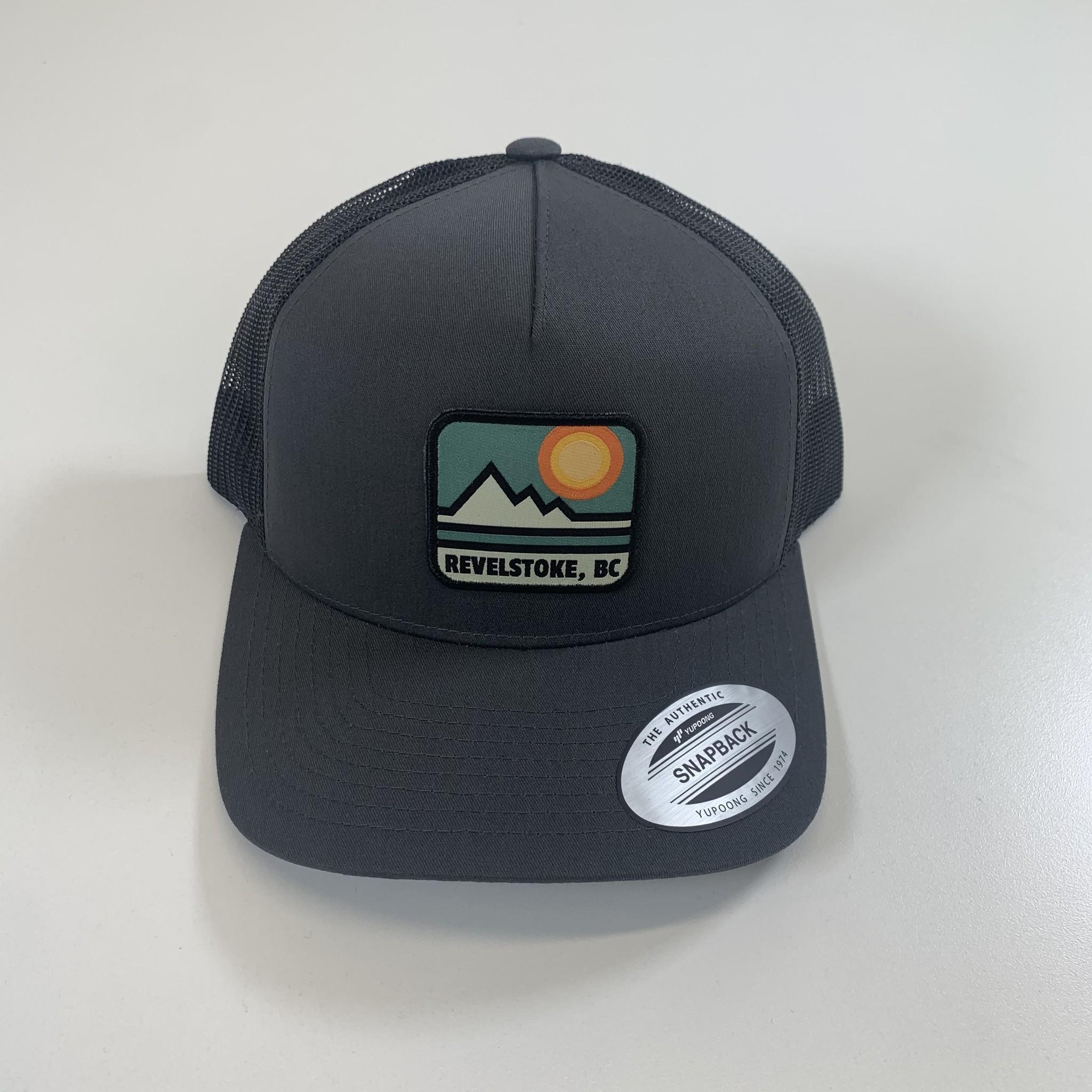 Revelstoke Trading Post Revelstoke - Retro Patch Curve Trucker (Charcoal)