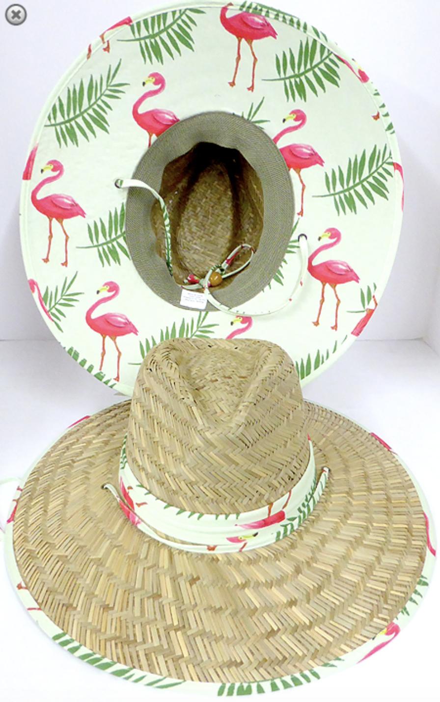 Revelstoke Trading Post Flamingo Straw Hat