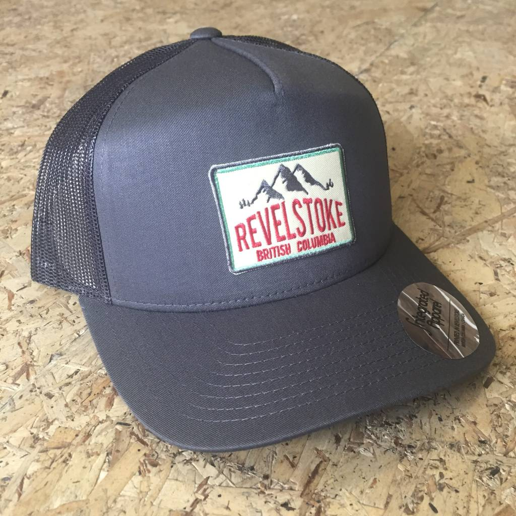 Revelstoke Trading Post Revelstoke - Mountain Patch - Curve Brim (Charcoal)