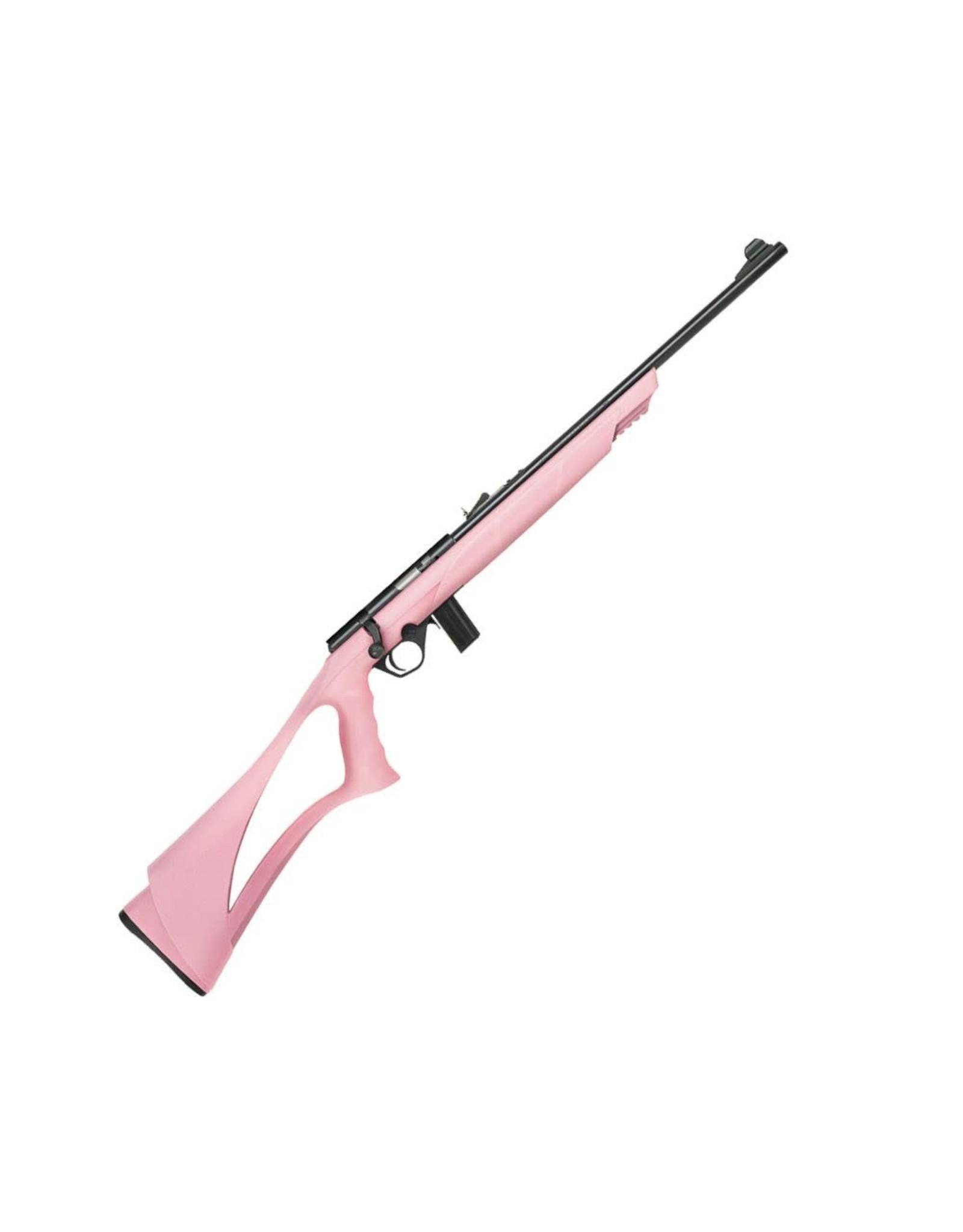 Mossberg Mossberg 38219 802 Plinkster Bolt Rifle 22 LR, RH, 18 in, Blued, Pink Syn