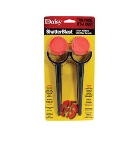 DAISY SHATTERBLAST CLAY TARGETS WITH TARGET STAKES