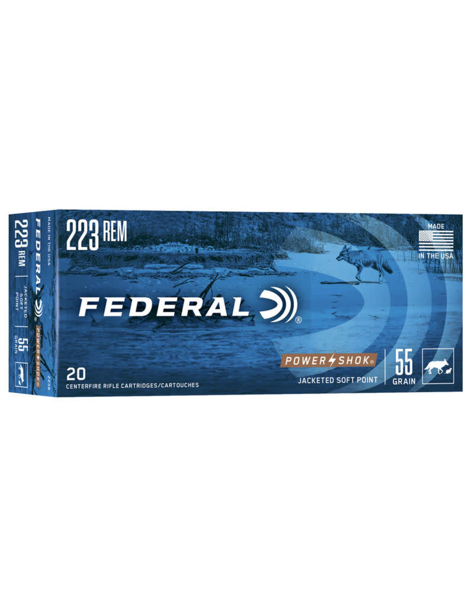 Federal - Power Shok FED P-SHOK 223 REM 55GR SP