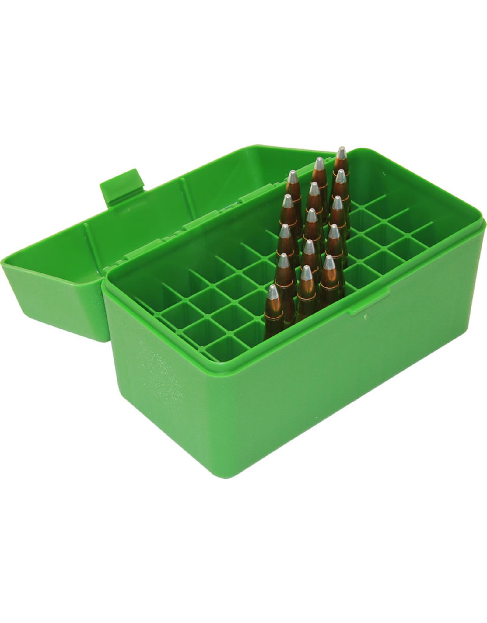 MTM Case-Gard MTM RMLD-50-10 Case-Gard Ammo Box 50 Round Flip-Top 300 WSM 45-70 7mm