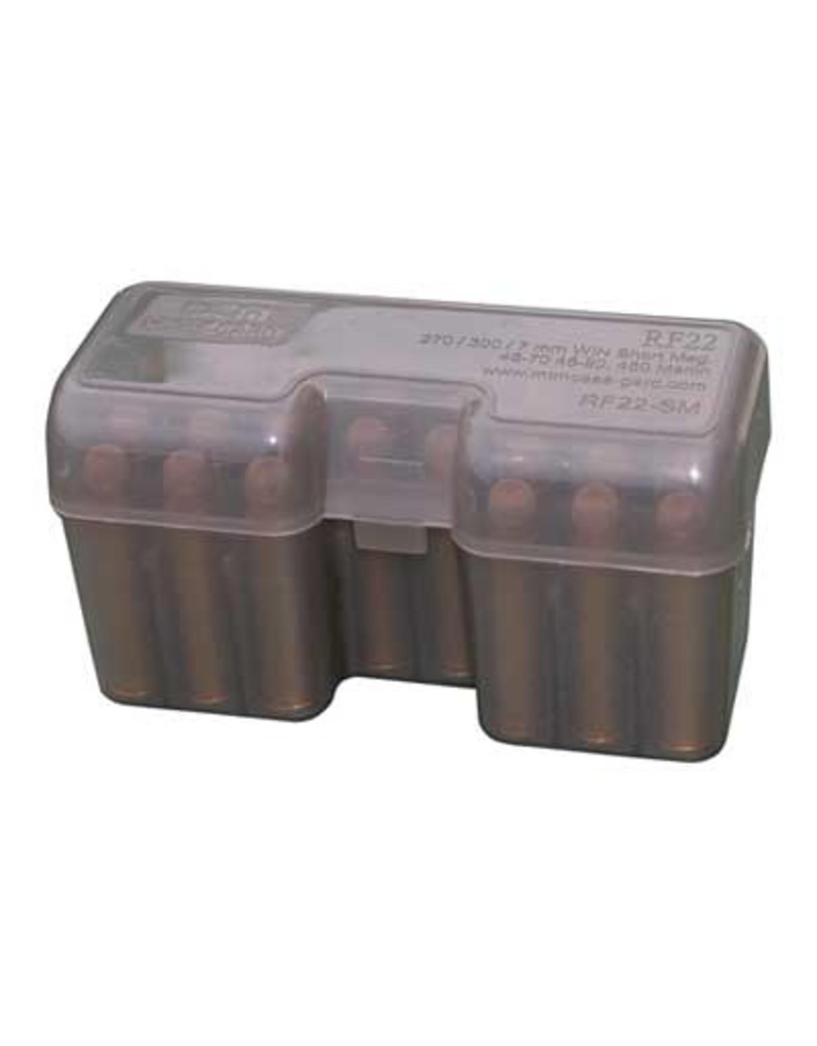 MTM Case-Gard MTM RF22-SM-41 Case-Gard Flip-Top 22-Round Rifle Ammo Box Short Mags