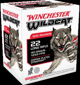 WINCHESTER - AMMUNITION Winchester Wildcat Rimfire 22 Long Rifle, 40 Grain, 500 rds in brick
