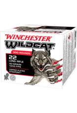 WINCHESTER - AMMUNITION Winchester Wildcat Rimfire 22 Long Rifle, 40 Grain, 500 rds in brick