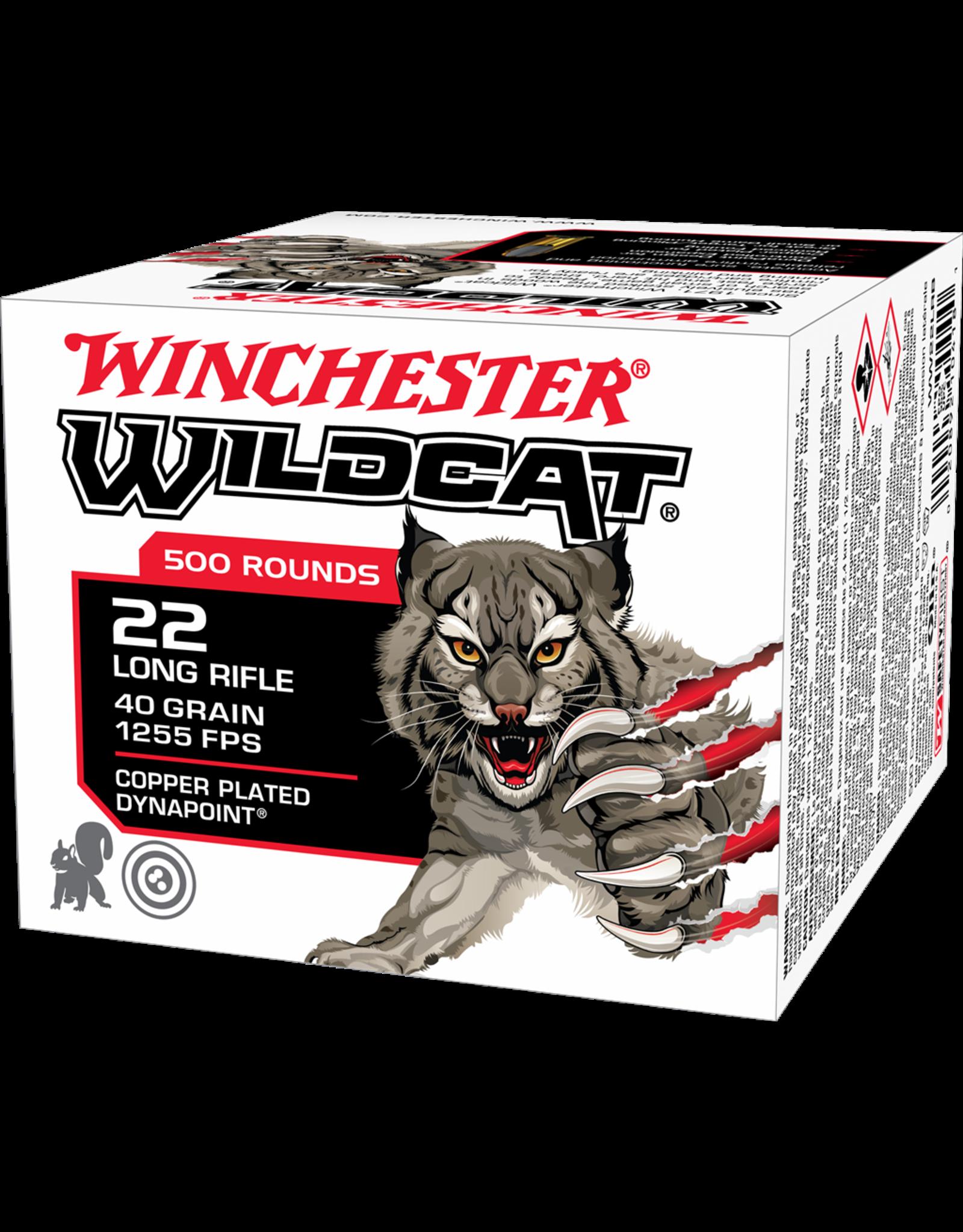 WINCHESTER - AMMUNITION Winchester Wildcat Rimfire 22 Long Rifle, 40 Grain, 50 rds single