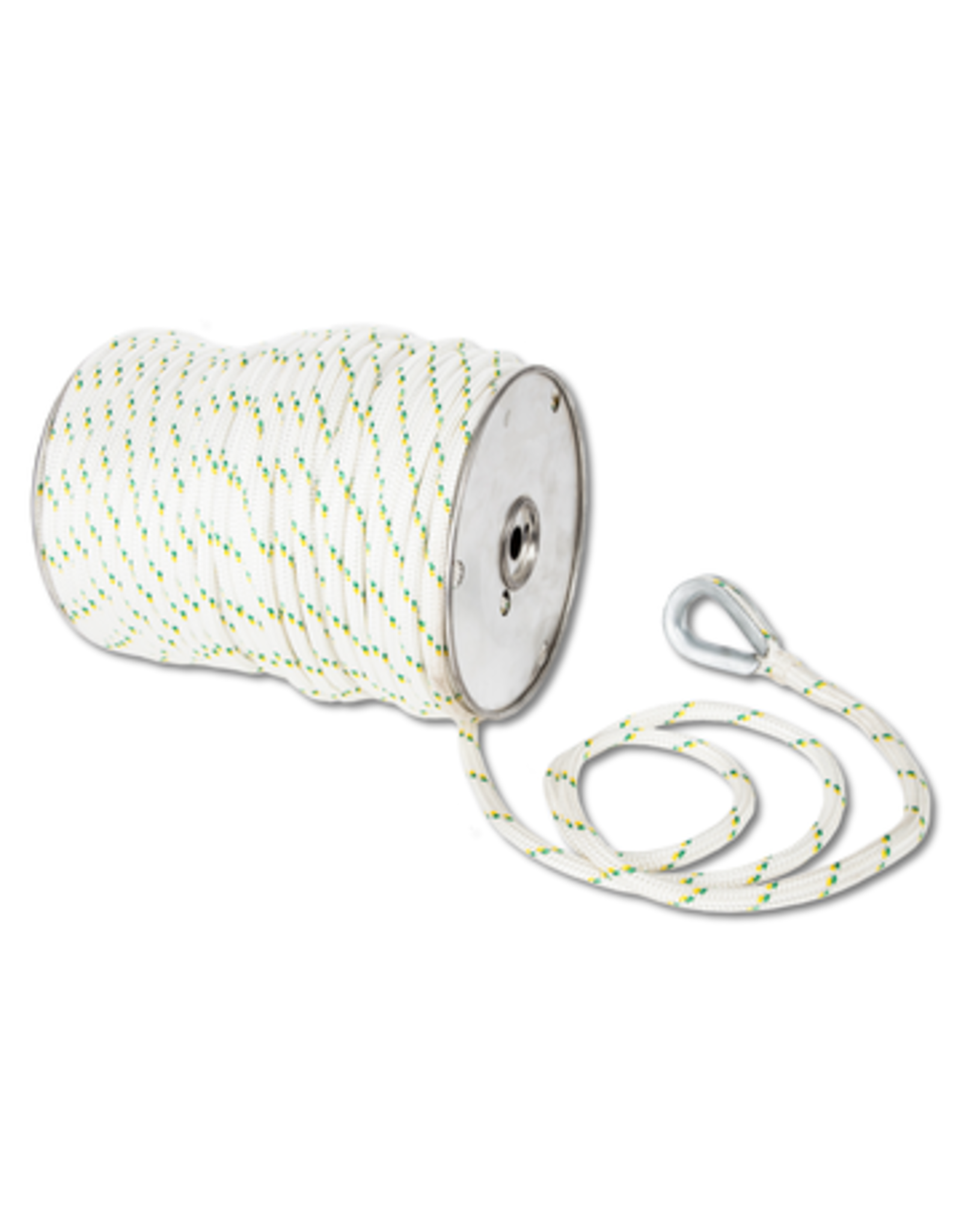 """Portable Winch PW 3/8"""" DOUBLE-BRAIDED POLYESTER ROPE WITH SPLICES AND THIMBLES 100M OR 328 FT"""
