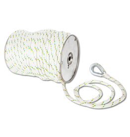 "Portable Winch PW 3/8"" DOUBLE-BRAIDED POLYESTER ROPE WITH SPLICES AND THIMBLES 100M OR 328 FT"