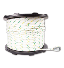 """Portable Winch PW 1/2"""" DOUBLE-BRAIDED POLYESTER ROPES WITH SPLICES AND THIMBLES 200M OR 356 FT"""