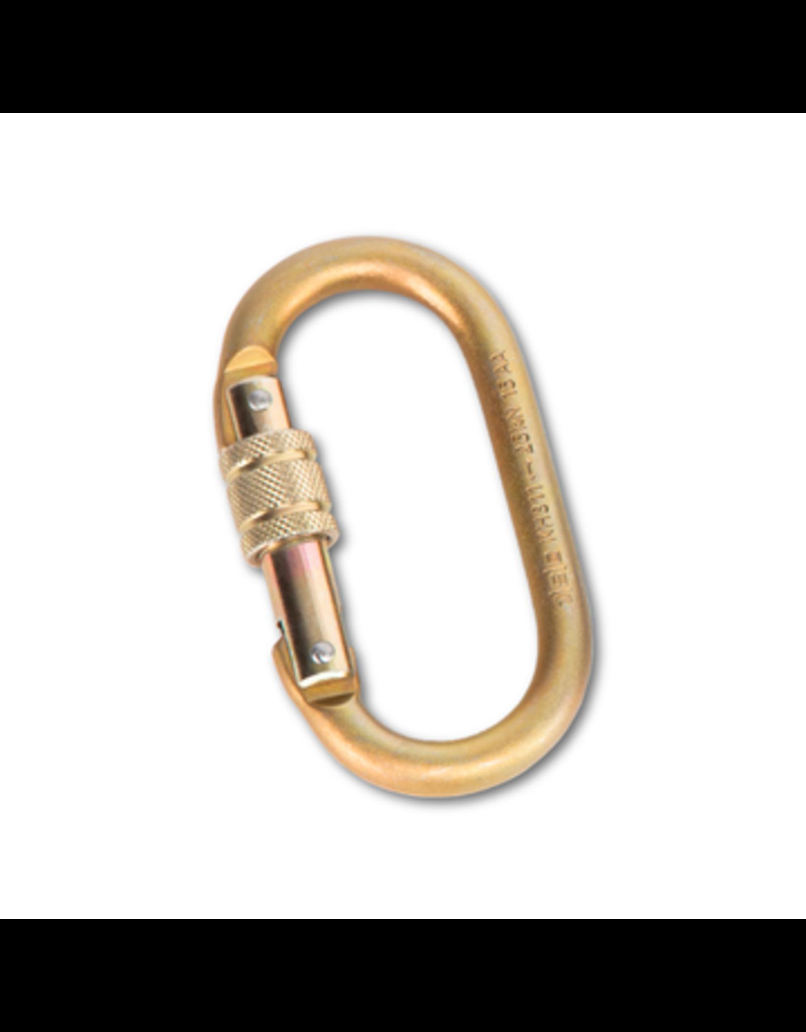 Portable Winch PW STEEL LOCKING CARABINER MBS 25kN