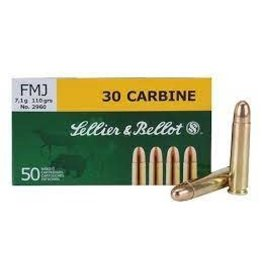 Sellier & Bellot Sellier & Bellot 30 Carbine FMJ 110grs