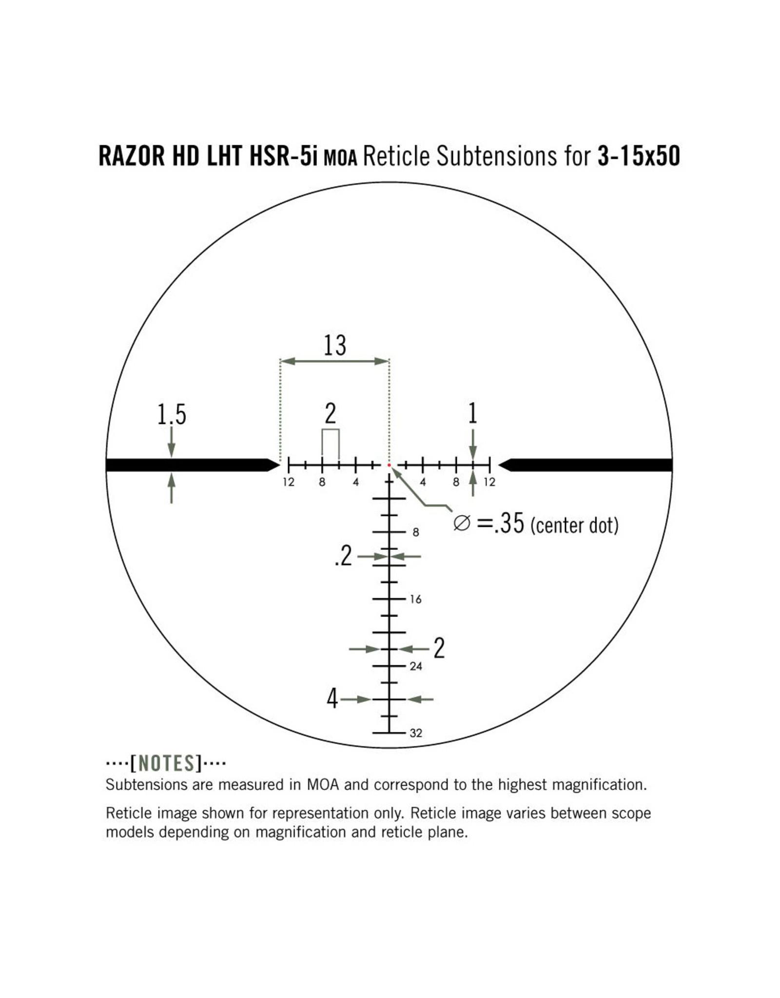 Vortex VORTEX RAZOR 3-15X42 HSR - 5I RETICLE MOA