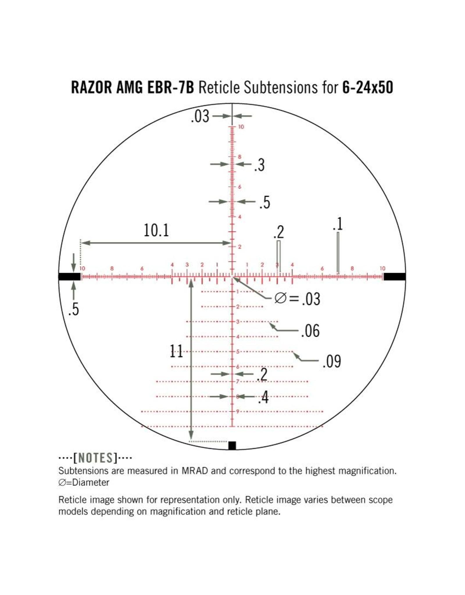 Vortex Razor HD AMG 6-24x50 FFP Riflescope with EBR-7B mrad Reticle
