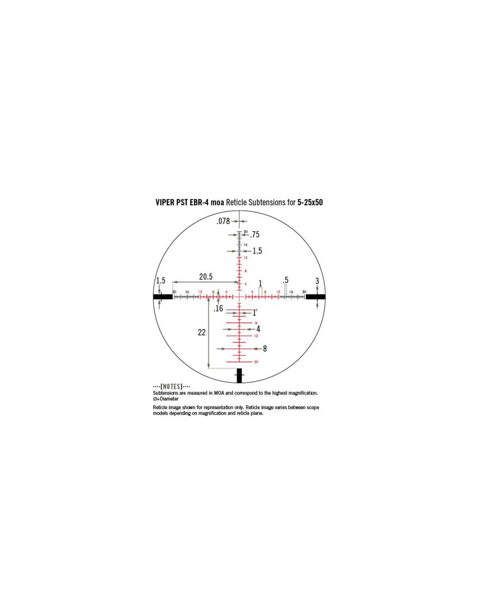 Vortex Vortex Viper PST 5-25x50 FFP Riflescope with EBR-2C MOA