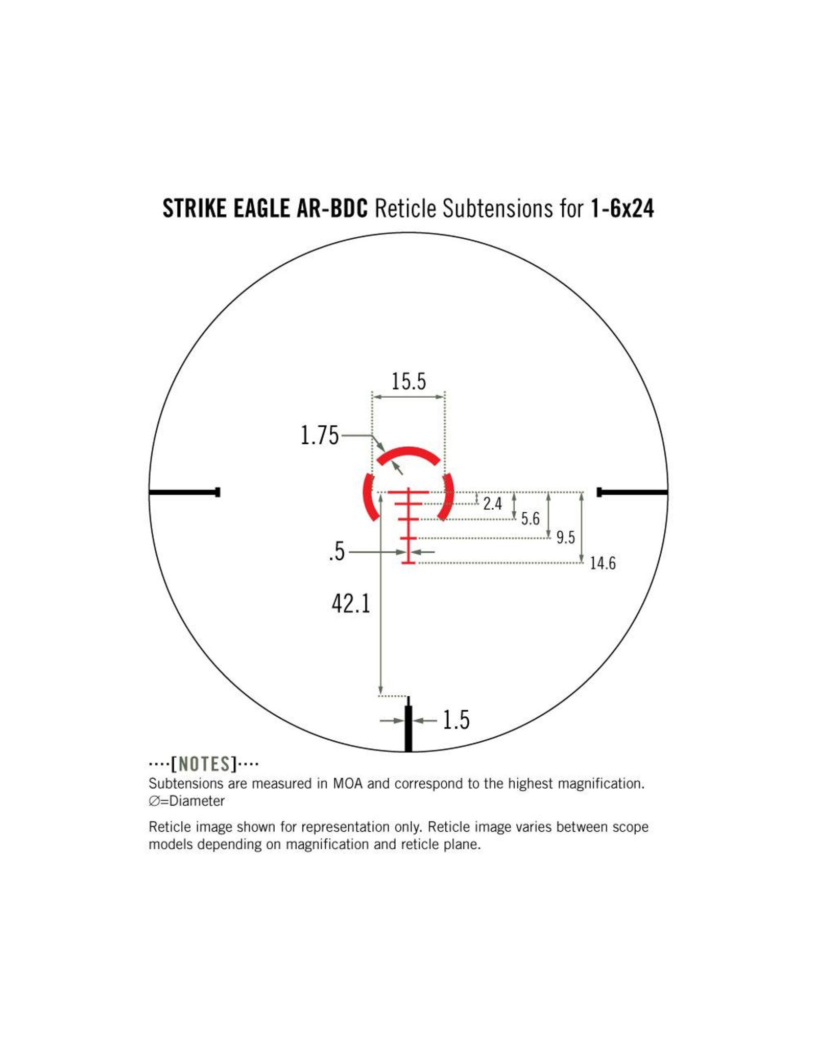 Vortex Vortex Strike Eagle 1-6x24 Riflescope AR-BDC