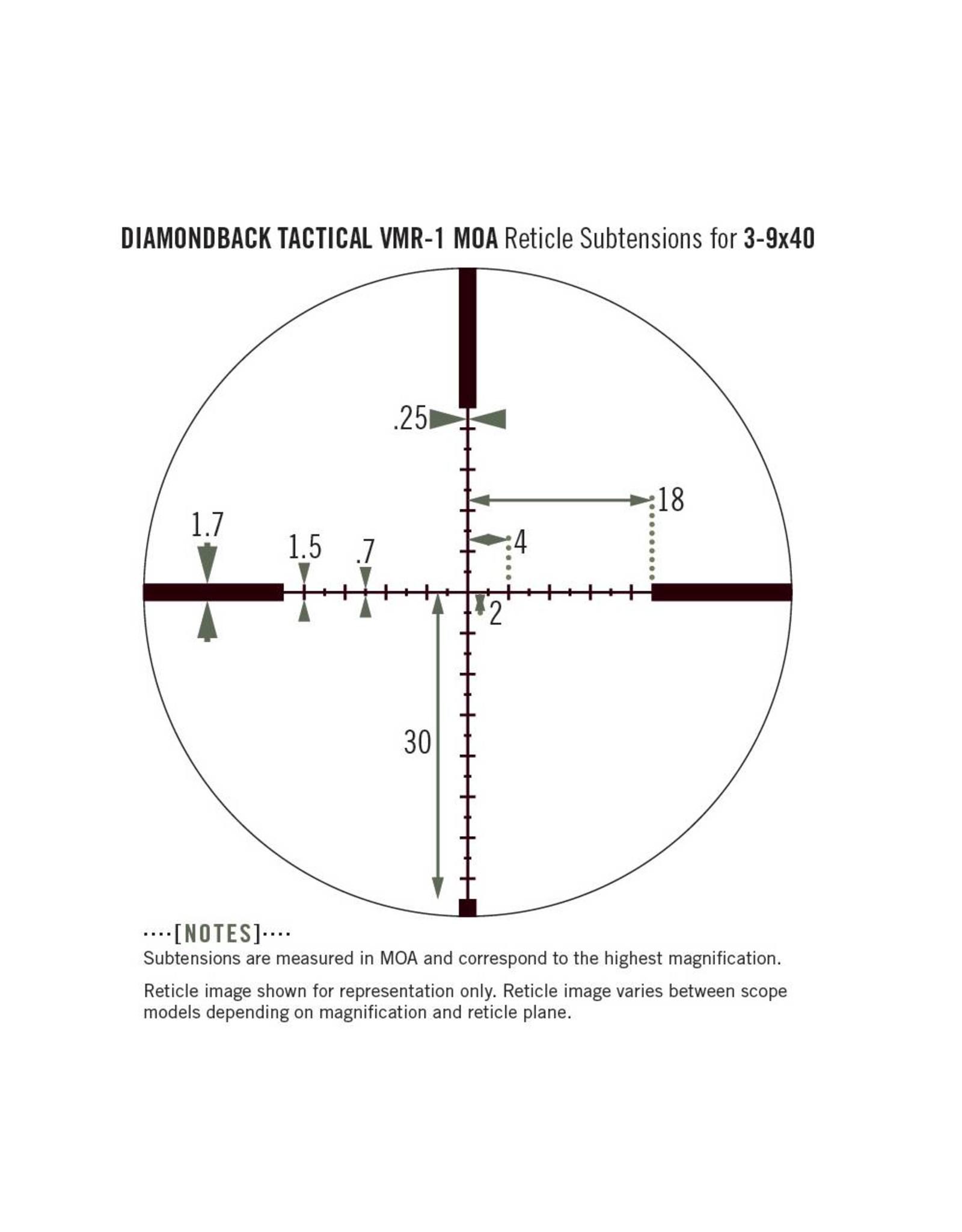 Vortex Vortex Diamondback Tactical 3-9x40 Riflescope with VMR-1