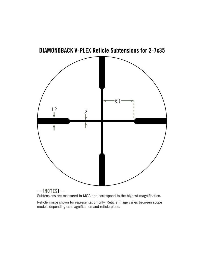 Vortex Vortex Diamondback 2-7x35 Rimfire Riflescope V-Plex