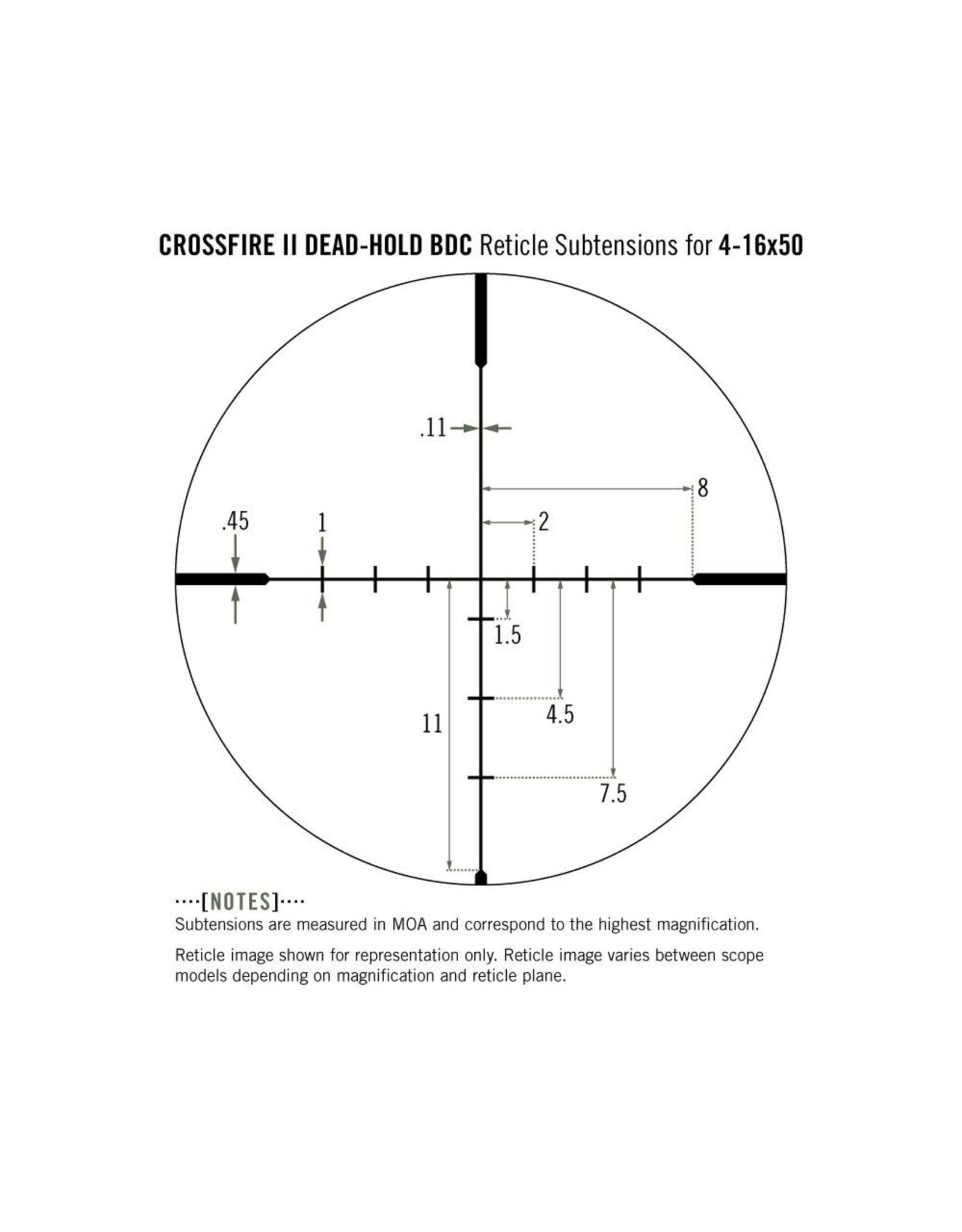 Vortex Vortex Crossfire II 4-16x50 AO Riflescope (30mm) BDC
