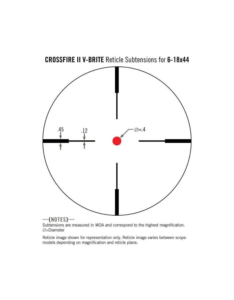 Vortex Vortex Crossfire II 6-18x44 Riflescope (1-Inch) V-Brite