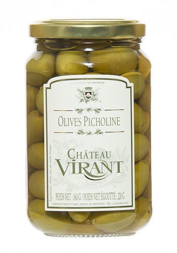 Picholine olives in 220g jar Château Virant