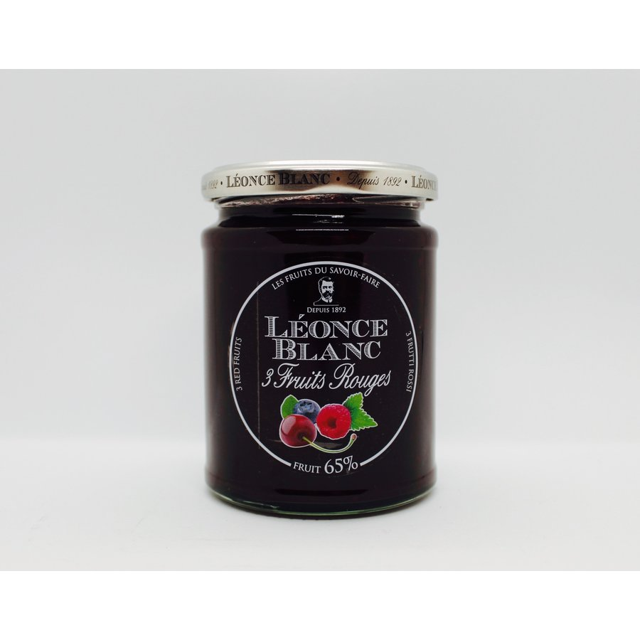 Confiture 3 fruits rouges 65%