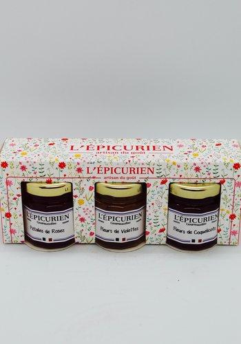 Trio  épicurien gelée à la fleur 3 x 50 g