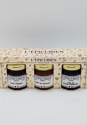 Trio  épicurien confits pour foie gras 135g