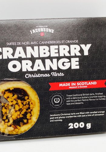 Jacobsons Cranberry and Orange Christmas Tarts 200g