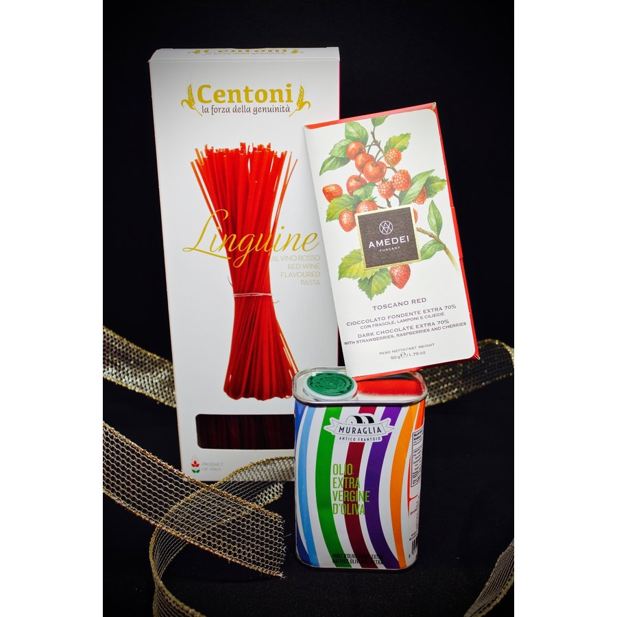 Coffret-cadeau Linguine-huile-choco