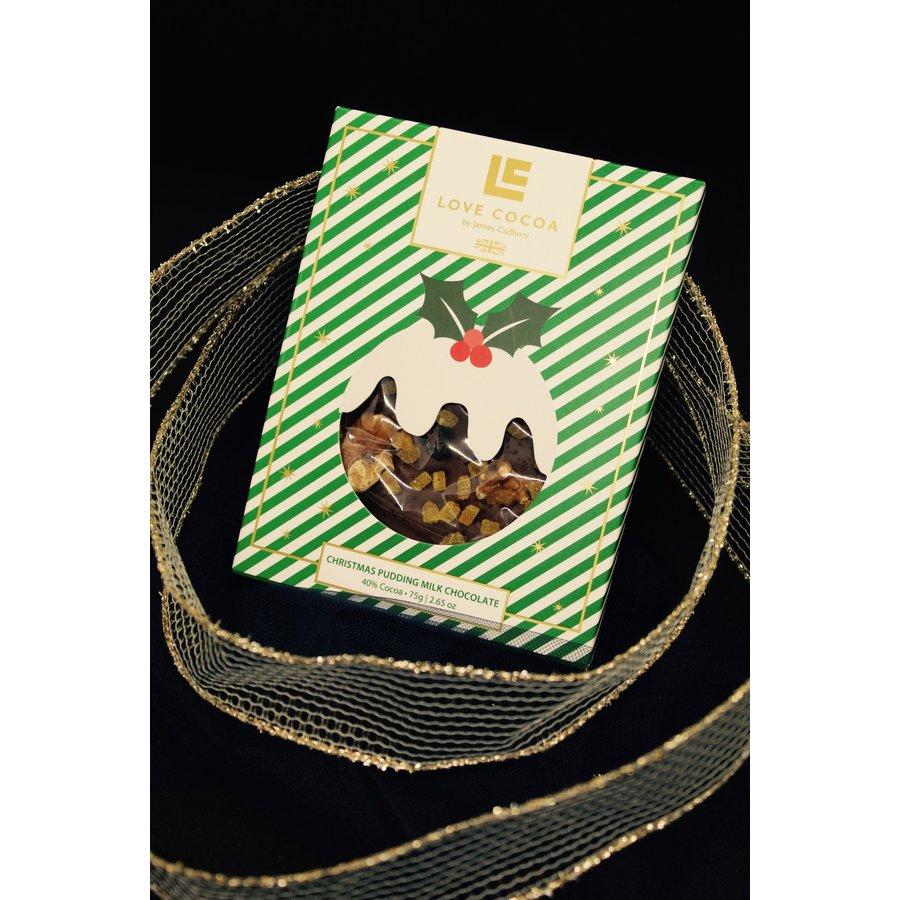 Christmas Pudding Milk Chocolate Bar 75g