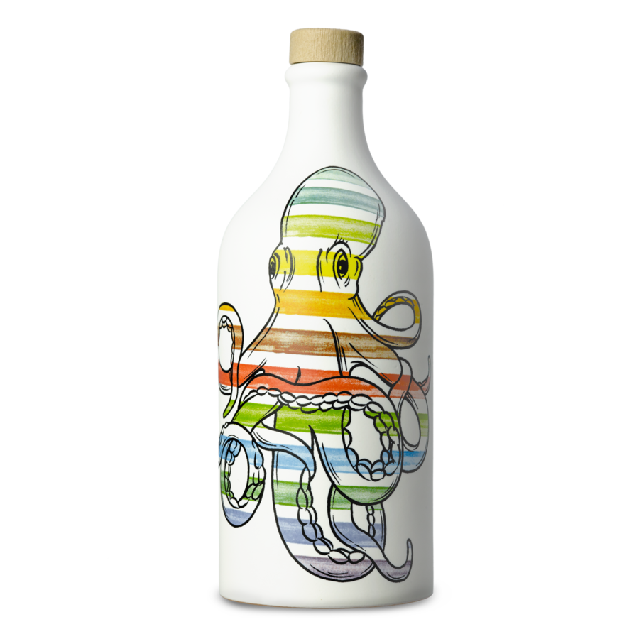 Huiled'olive extar vierge bouteille  céramique  calmar Muraglia 500 ml