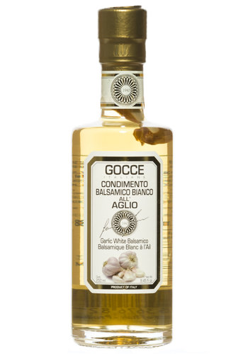 Vinaigre Balsamique Blanc Infuse Ail - Gocce-250 ml
