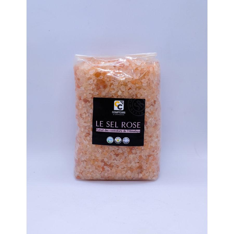 Recharge en sac cristaux de sel rose pour moulin  1KG