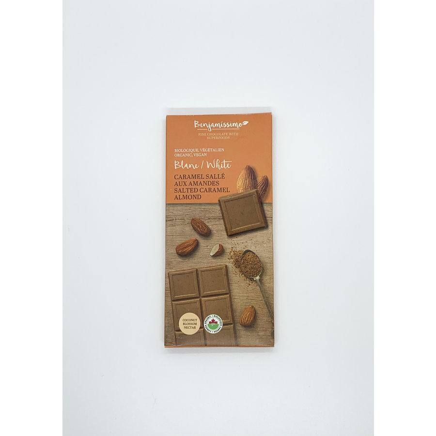Benjamissimo Tablette chocolat blanc au caramel salé aux amandes70g