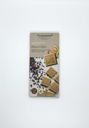 Benjamissimo Tablette Blanc et fèves de cacao crues  70g