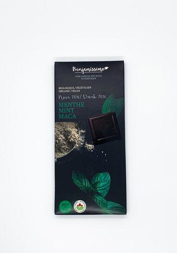Benjamissimo Tablette Menthe et Maca chocolat noir 70%  70g