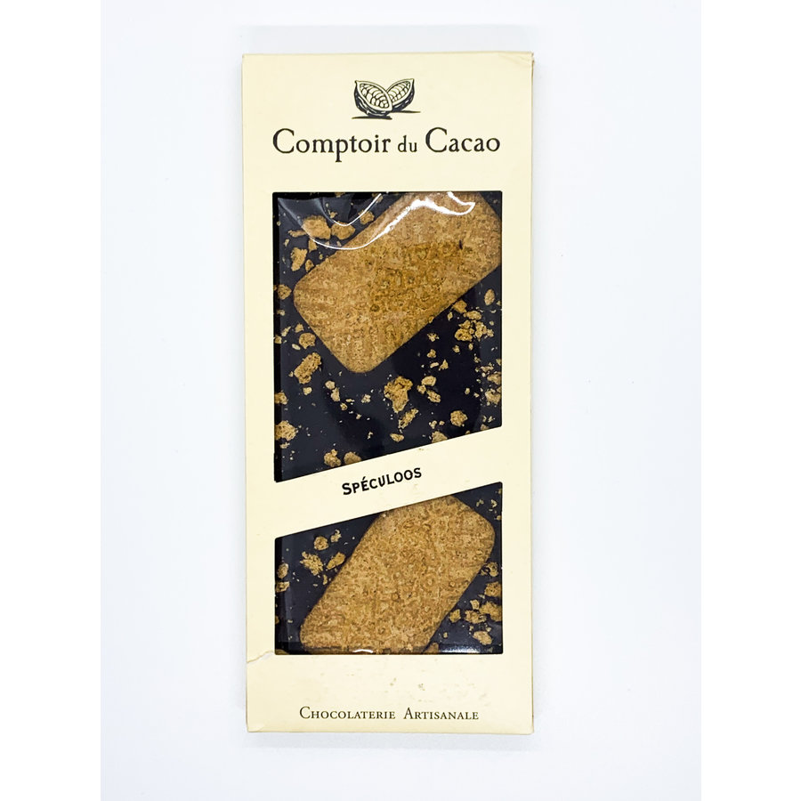 Speculoos black chocolate gourmet bar  90g
