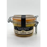 Foie gras entier de canard des Landes bocal 130g (Lafitte)