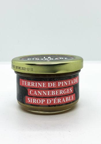 Terrine pintade canneberge sirop d'érable  80G| La Pintarade