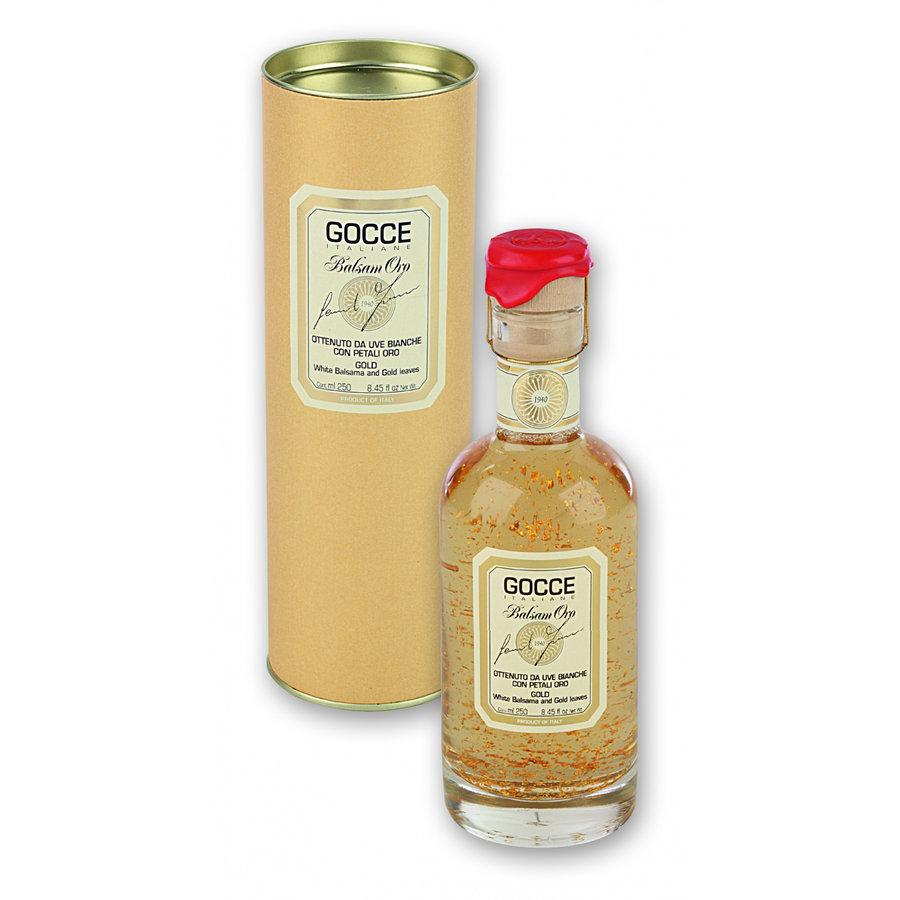 Vinaigre de balsamique blanc avec paillettes d'Or 250 ml Gocce
