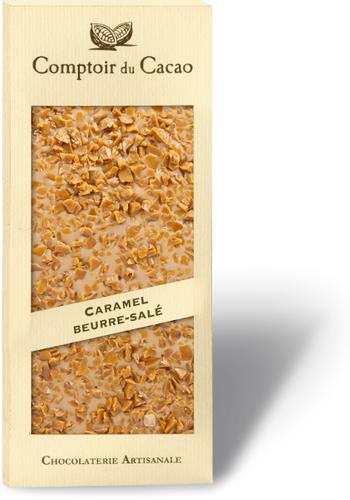 Barre gourmande chocolat blond au caramel beurre salée 90g