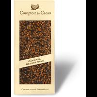 Caramel & Salted butter black gourmet chocolate bar 90g
