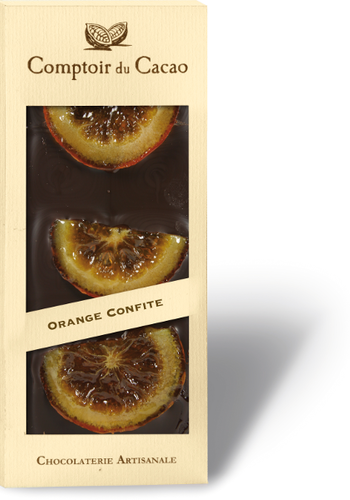Barre gourmande noir orange confite 90g